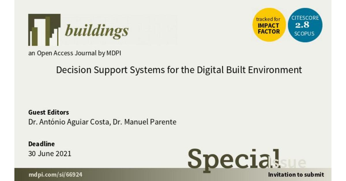 Aguiar Costa e Manuel Parente são Guest Editors da MDPI