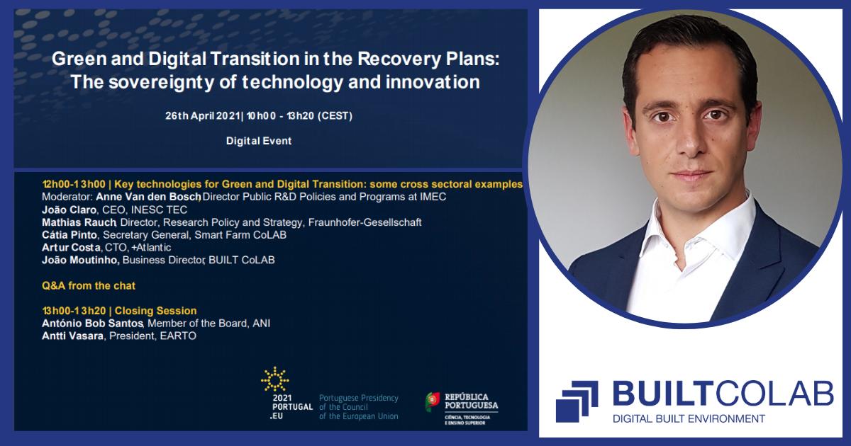 Joao Moutinho, na Conferência internacional Green and Digital Transition
