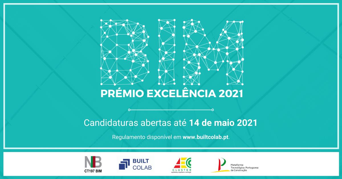 cndidaturas abertas ao Prémio Excelencia BIM 2021