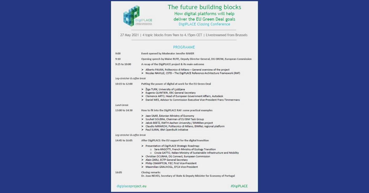 programa da conferencia de encerramento do projeto digiplace